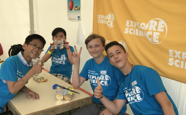 Thumps up bei Explore Science 2017