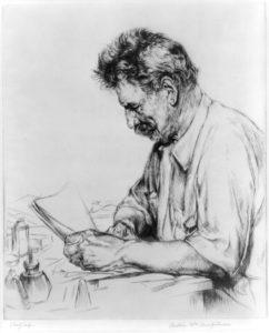 Albert Schweitzer [Zeichnung von A. W. Heintzelman]